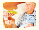 A male elderly receiving hid medications
