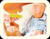 A male elderly receiving hid medications